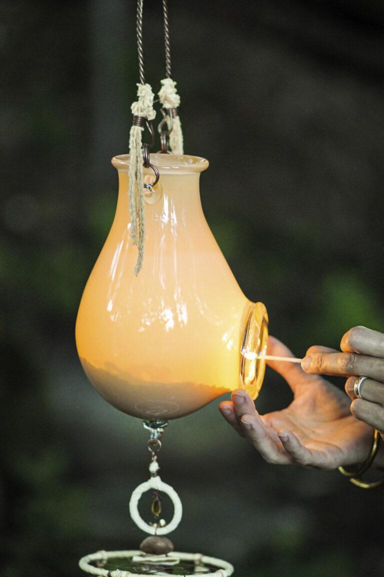 Lanterne Lait doré