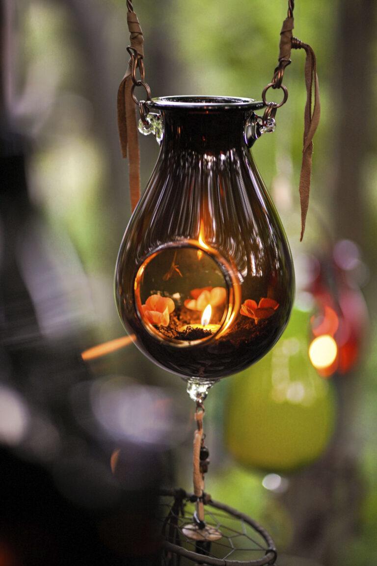 Lanterne Terre de sienne